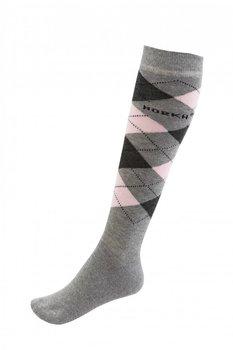Sokken Horka Riding grijs/roze