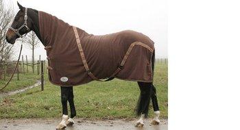 Harry's Horse Fleecedeken Chestnut met hals OP=OP