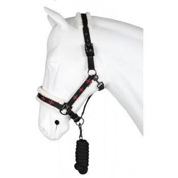Halsterset Nordic zwart pony