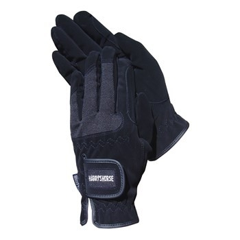 Domy Suede Mesh Gloves, Harry's Horse zwart XXL